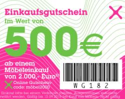 3 Gutscheine für moemax.de: 100€ bei 500€ MBW, 250€ bei 1.000€ MBW, 500€ bei 1.500€ MBW