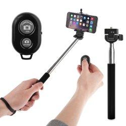 amazon yousave selfie stab mit handy halter und bluetooth knopf f r nur 2 02 euro und versand. Black Bedroom Furniture Sets. Home Design Ideas