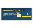 o2: McSIM Allnet Flat + 500 MB LTE-Flat  für 9,99€ – monatich. kündbar