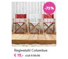 Regiestuhl Columbus in weiß oder rot für 15€ inkl. Versand, 2 Regiestühle für je 10€ inkl. Versand