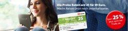 bahn.de: Probe BahnCard der Deutschen Bahn ab 16 Euro gültig für 3 Monate
