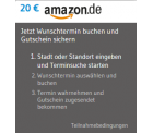 20 Euro Amazon Gutschein für die Buchung eines Zahnarzttermins