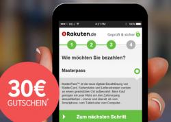 30,00 € Rakuten Gutschein bei Zahlung mit Masterpass