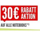 30€ Rabatt auf alle Notebooks im nullprozentshop.de (0% Finanzierung)
