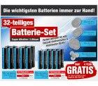 32-teiliges Batterie-Set GRATIS @ pearl, Mitbestelltip, nur Versandkosten