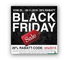 Black Friday bei Parfuemerie.de 20% Rabatt auf fast alles (ausser Geschenkkarte, reduzierte Artikel )