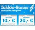 Conrad: Tekkie Bonus Gutschein 10€ auf 70€ MBW und 20€ auf 160€ MBW erhalten