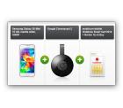 D2:Vodafone Smart Surf (1GB Datenflat, je 50 Frei-SMS und Minuten) inkl. Samsung S5 Mini und Google Chromecast 2 für 14,99 € mtl.