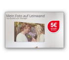 Dein Foto auf Leinwand z.b 20×20 statt 28,90 € für nur 5,- € zzgl. Versandkosten @ MeinFoto