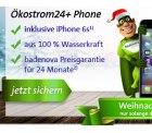 Erdgas24 oder Ökostrom24 Preisvergleich + iPhone 6S, 16GB gratis dazu. @badenova