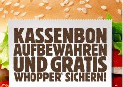 Gratis Burger King Whopper für dein Feedback erhalten @bk-feedback