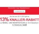 Knallermonat bei Neckermann: 1 Monat lang täglich Aktionen – heute bis 20.11.15 – Gratislieferung ab 75€ und 13% zusätzlich auf Möbel