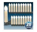 Lunartec LED-Weihnachtsbaum-Lichterkette mit 20 LED-Kerzen GRATIS statt 24,90 € @Pearl