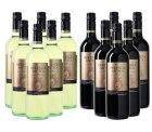 Nur heute: Weiß- und Rotwein Set aus 12 Flaschen Herencia Antica für 35€ bei weinvorteil.de mit Gutscheincode BLACK