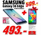[MediaMarkt Porta Westfalica] Samsung S6 Edge 32GB + Galaxy Grand Prime Smartphone für 493€ [Idealo 700€]