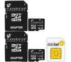 Zwei 32x GB FlashRaptor MicroSDHC Speicherkarten für 1,95€ bei Kauf einer debitel SIM @eBay