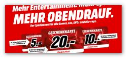 5€, 10€ oder 20€ Geschenkkarte bei Kauf von CDs, DVDs, Blu-Rays und Games @MediaMarkt