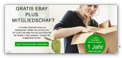 eBay Plus nur für Eingeladene eBay-Mitglieder für 1 Jahr kostenlos statt 19,90€