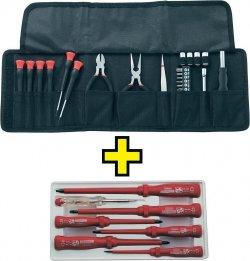 Elektronikerset in Tasche 25tlg. + VDE-Schraubendreher-Satz 7tlg. für 11,00 € (18,08 € Idealo) @eBay