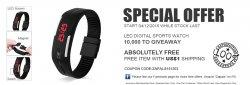 LED Digital Sports Watches kostenlos statt 7,20 €  nur Versandkosten von 0,90€