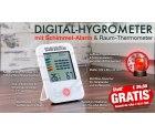 Pearl: Digital-Hygrometer/ Thermometer mit Schimmel-Alarm für 0 Euro + Versand statt 22,00 Euro bei Idealo