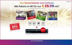 Sky Komplett + Sky Go, Sky HD, Sky On Demand und Sky+ HD-Festplatten-Leihreceiver für 29,99 € mtl. statt 73,99 €