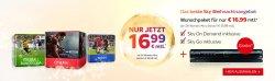 Sky: Starter Paket mit einem Premiumpaket für nur 16,99 Euro im Monat