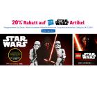 Toysurus: 20 Prozent Rabatt auf alle Star Wars Artikel z.B. Star Wars – Episode 7 ferngesteuerter Droide für nur 55,99 Euro statt 91,74 Euro bei Idealo