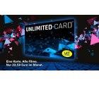 UCI Unlimited Jahreskarte für 22,50€ mtl. – Kino-Flat an allen Tagen und inklusiver aller Zuschläge (Überlänge, 3D, Loge, VIP, iSens)