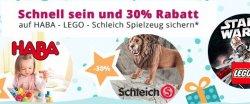 Windeln.de: Mindestens 30% auf  Lego, Duplo, Haba, Schleich etc.