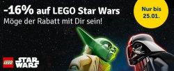 16% Rabatt auf Lego Star Wars + 12% oder 10€ ab 49€ für Neukunden @myToys