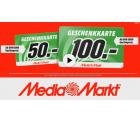 50 € Geschenkkarte ab 399 € Gerätepreis oder 100 € Geschenkkarte ab 999 € Gerätepreis @Media Markt