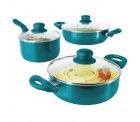 bratmaxx Keramik Topfset 6-teilig mit Glasdeckel (für alle Herdarten) für 19,99 € (29,95 € Idealo) @eBay