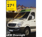 Europcar: LKW über Nacht (17:00 bis 7:30) ab 11€