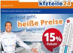 KFZ Teile 24: Gutscheincode für 15% auf fast Alles !