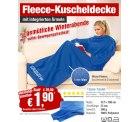 PEARL: Fleece Decke mit Ärmel für 1,90 € nur Versandkosten [ Idealo 14,80 € ]