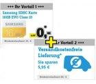 Samsung EVO 16GB SDHC Karte GRATIS (idealo: 6,99€) + versandkostenfrei (69 € MBW)