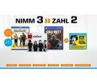 Saturn: Nimm 3 zahl 2 für Musik, Filme, Games und Hörbücher + 10 Euro JUKE Gutschein