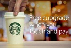 Starbucks Gratis-Cupgrade mit Visa