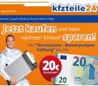 KFZ Teile 24: 20€ Gutschein erhalten beim Einkauf