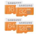 Samsung Evo MicroSD Karten. 32GB für 9,-€ / 64GB für 16,-€ und 128GB für 39,-€ @ MediaMarkt