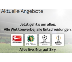 Sky Starter + Sky Bundesliga + Sport Paket + Sky+ HD-Festplattenleih-Receiver inkl. Sky Go und Sky On Demand für 24,99 € mtl. statt 29,99 €