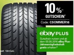 10% auf alle Sommerreifen bei eBay durch Gutscheincode & Paypal Bezahlung – nur bis 23. März!