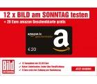 12 Wochen Bild am Sonntag + 20€ Amazon-Gutschein effektiv 2,80€ Euro Gewinn @Lesershop24