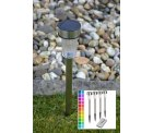 4er Set LED Solarstick Edelstahl mit Farbwechsel und Fernbedienung für 15,99€ inkl. Versand [idealo 23,49€] @Top12