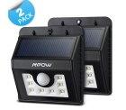 Amazon: 2 Stück Mpow LED Solarleuchten mit Bewegungs-Sensor durch Gutschein für 25,51 Euro statt 31,89 Euro