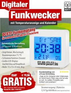 Digitaler Funkwecker mit Temperaturanzeige, GRATIS nur VSK @ pearl.de