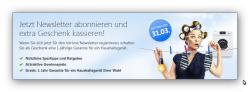 Kostenlos Hausgeräte-Garantie von ergo Direkt (für 1 Jahr) für Newsletteranmeldung @Verivox