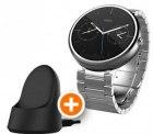 Motorola Moto 360 Metal Edition Smartwatch + kabellose Ladestation für 159,99 € (240,98 € Idealo) @Notebooksbilliger