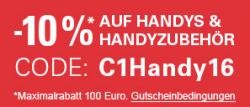 Nur heute 10% Rabatt auf alle Smartphones und Zubehör mit Gutscheincode @eBay
